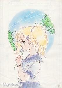小杉あや先生 直筆イラスト 「告白 一輪の花に添えて」