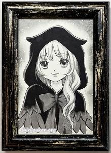 Ryoko「ミミズク妖精」直筆イラスト