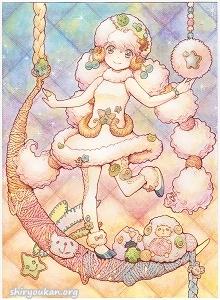 白たま先生 直筆イラスト 「眠る月は夢を見る」