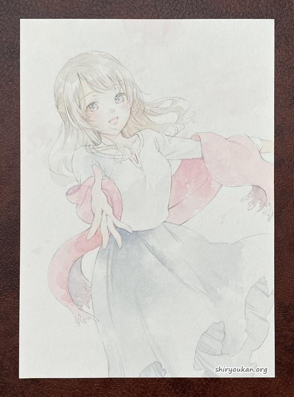 YORU 直筆イラスト 「花舞う」